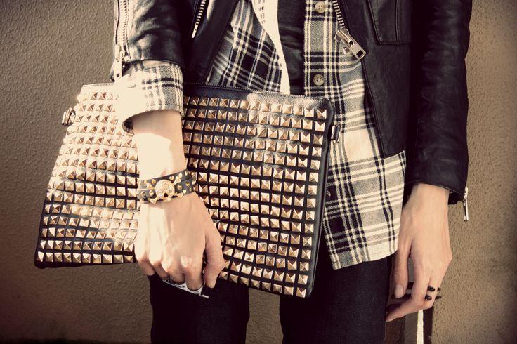 bolsa com tachas como usar