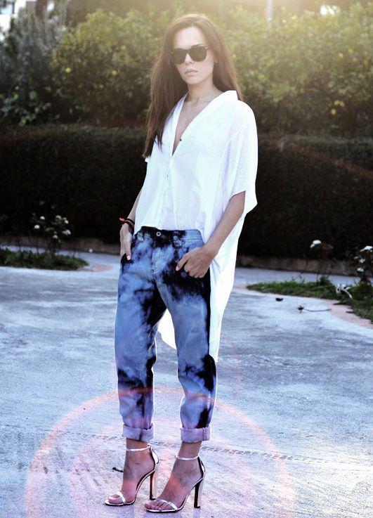 calça acid jeans como usar looks femininos