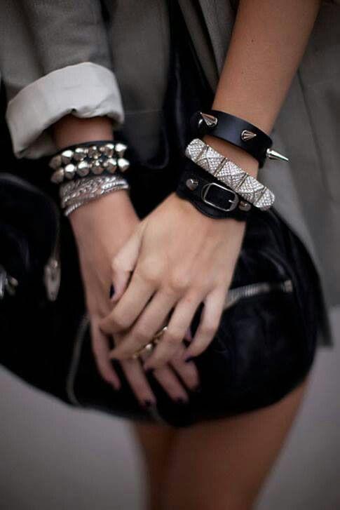 pulseiras com tachas como usar