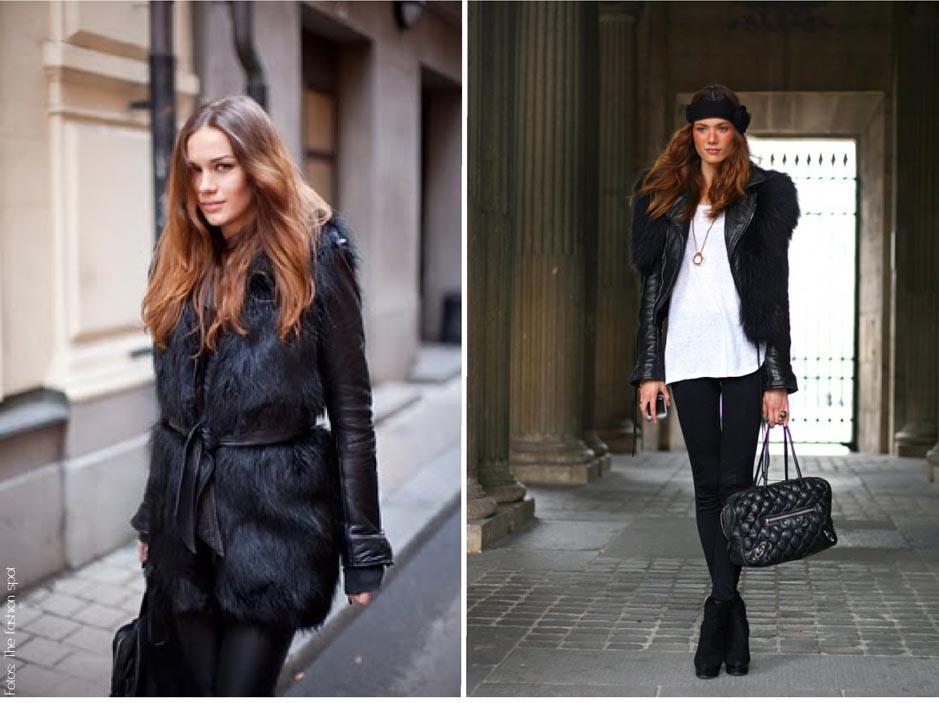 casaco e colete de pele fake como usar