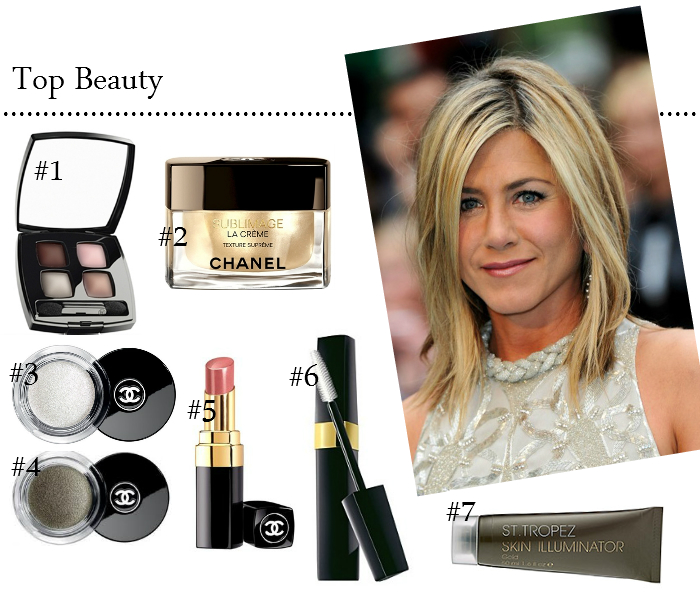 JENNIFER ANISTON'S BEAUTY LOOK FROM THE PREMIERE OF HORRIBLE BOSSES