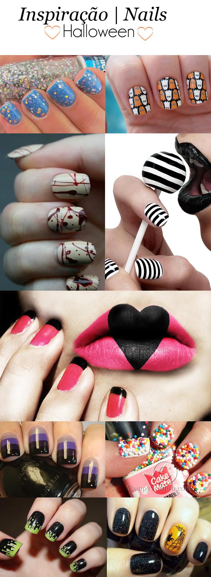 inspiração de unhas para o halloween