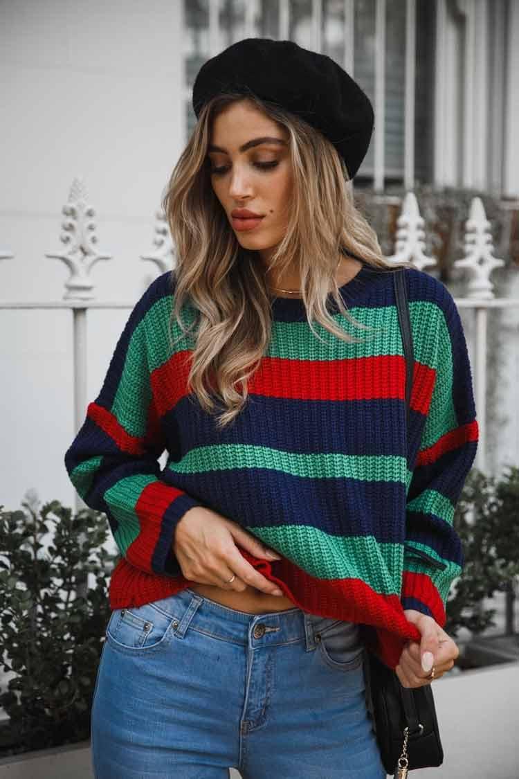 blusão-listrado-verde-vermelho-azul