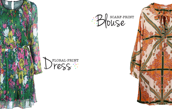 floral print and scarf print