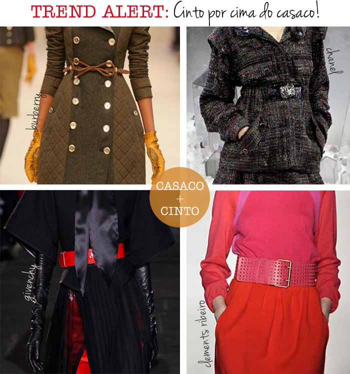 trend alert cinto por cima do casaco