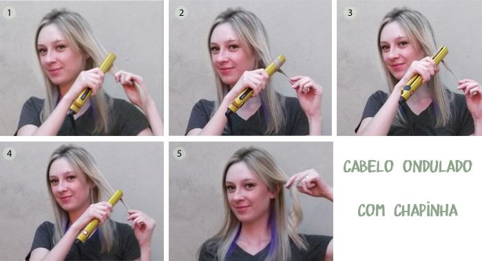 cabelo ondulado com chapinha gama italy iht golden