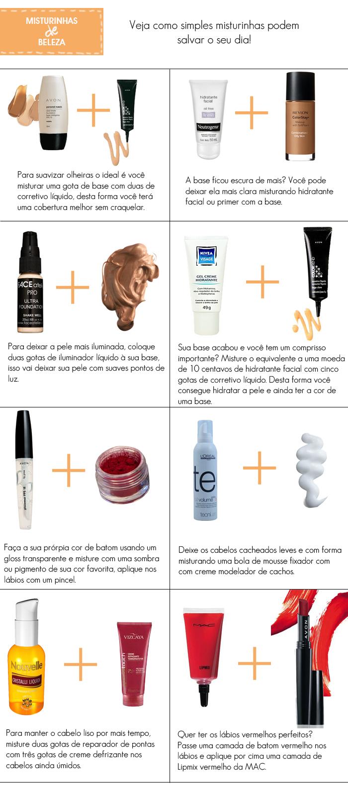 como fazer misturinhas de produtos de beleza