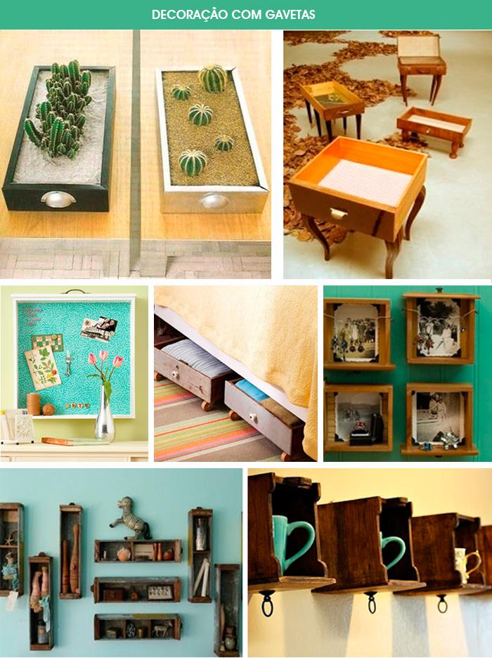 decoração com gavetas