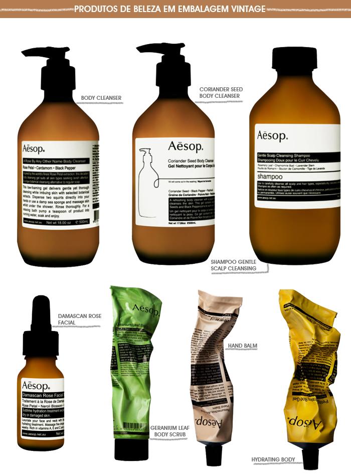 Aesop, produtos de beleza para o rosto, corpo e cabelos