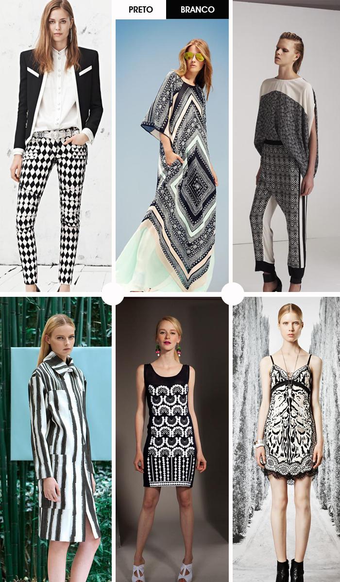tendência em estampa preto e branco coleção resort blog MeninaIT