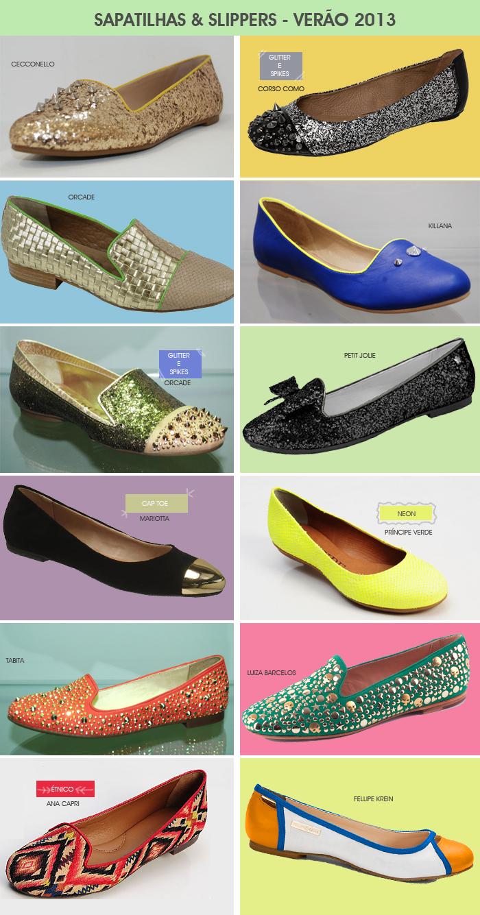tendência em sapatilhas e slippers para o verão 2013