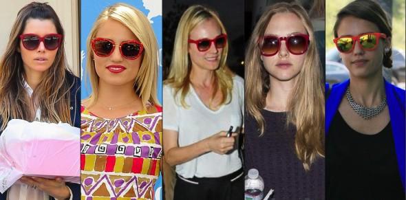 óculos armação vermelha