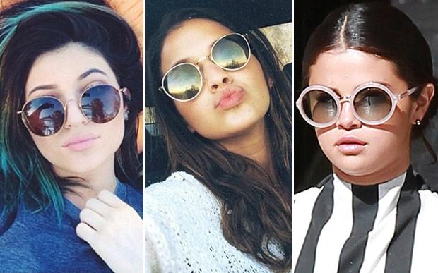 óculos de sol redondo celebridades