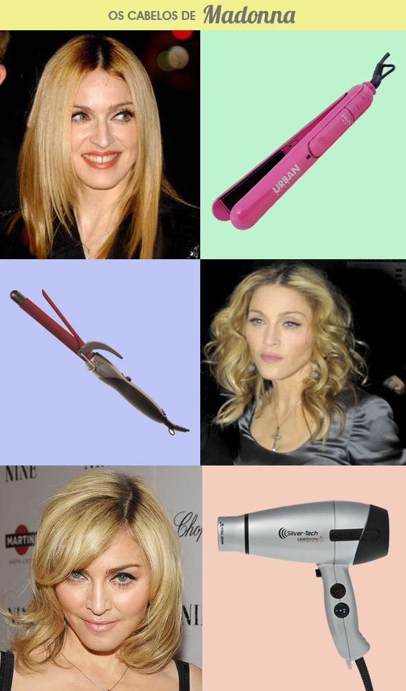 Madonna copie os cabelos da cantora Blog MeninaIT
