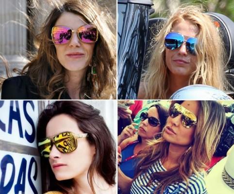 celebridades óculos espelhados