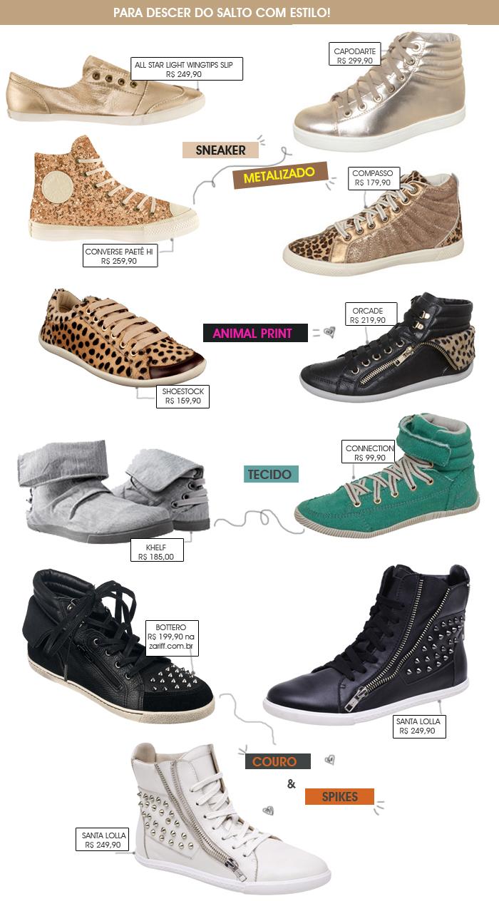 sneaker sem salto blog MeninaIT