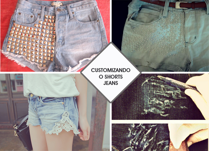 How to Customize Jeans Shorts DIY MeninaIT