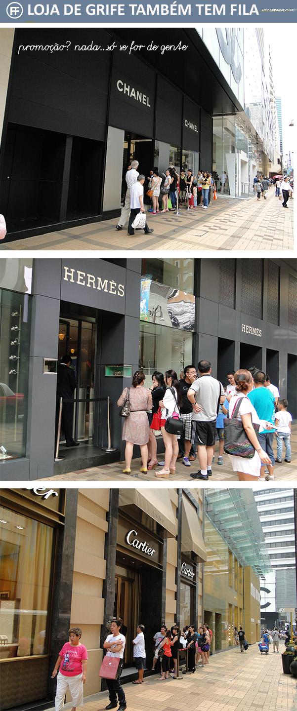Filas na lojas Chanel, Hermès e Cartier