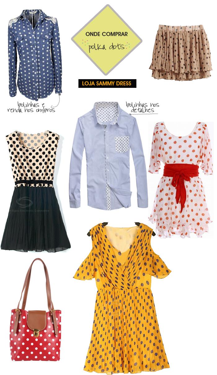 onde comprar roupas com bolinhas Loja Sammy Dress MeninaIT