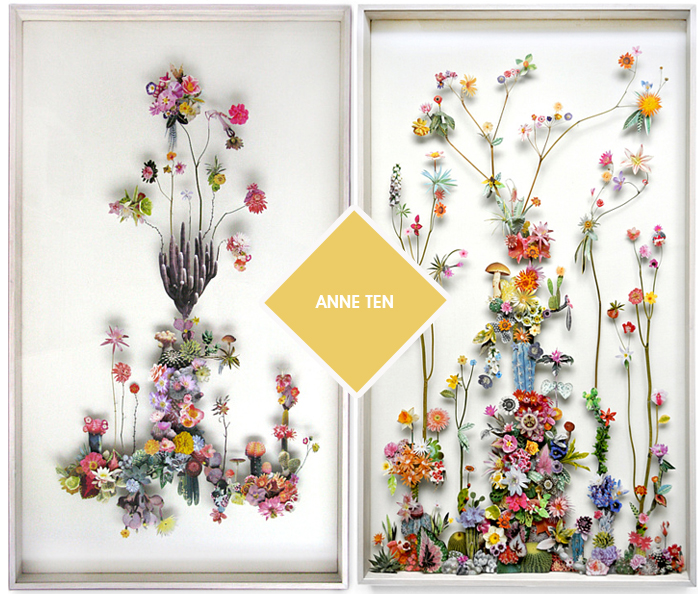 Quadros Anne Ten Flower Constructions