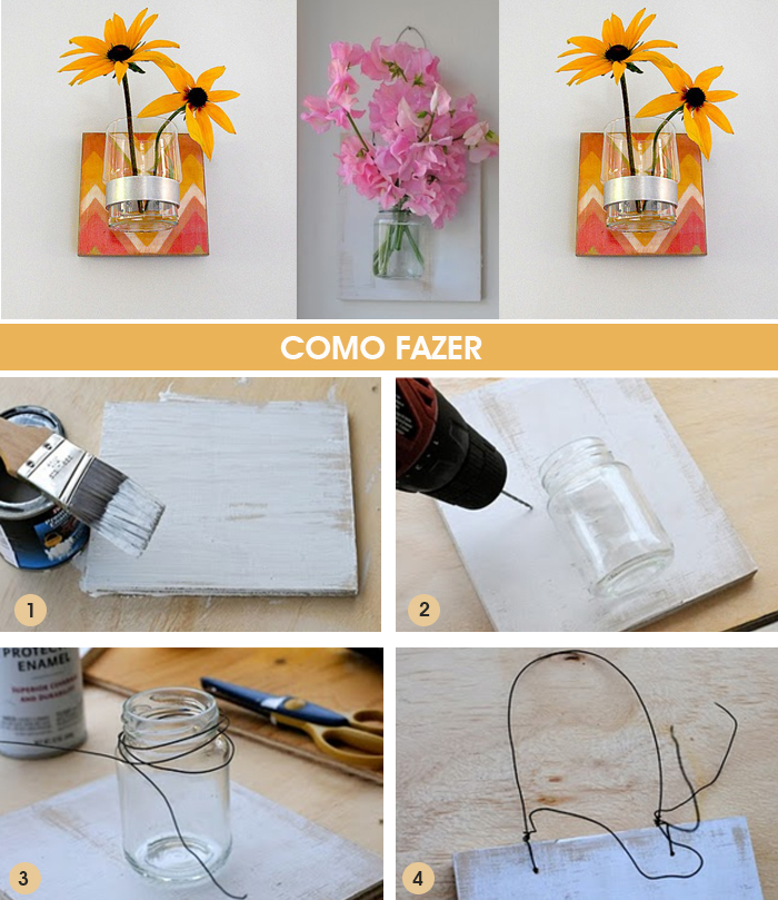 HOW TO quadro de flores na parede Décor Blog MeninaIT