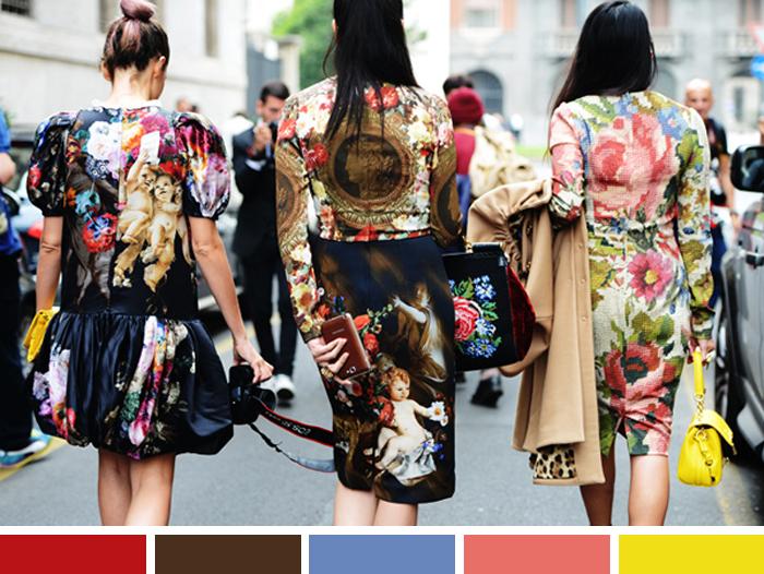 Inspirations of the week Misturar cores e estampas Blog MeninaIT