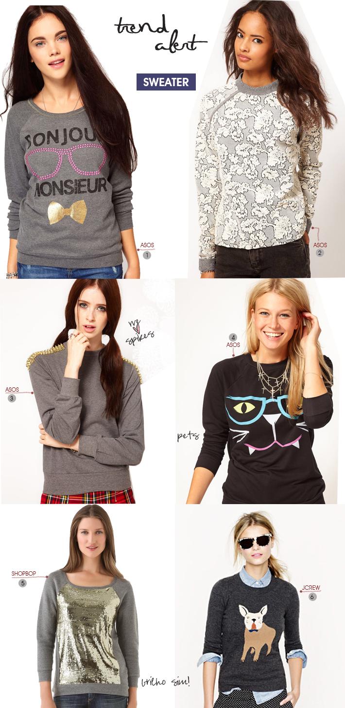 Trend Alert Sweaters na moda Blog MeninaIT