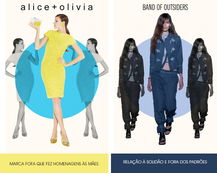 história dos nomes das marcas Alice Olivia e Band of Outsiders Blog MeninaIT