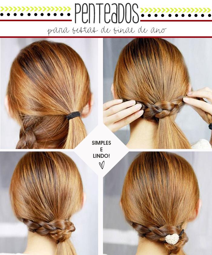 penteado de cabelo simples e rápido para festas de final de ano Blog MeninaIT