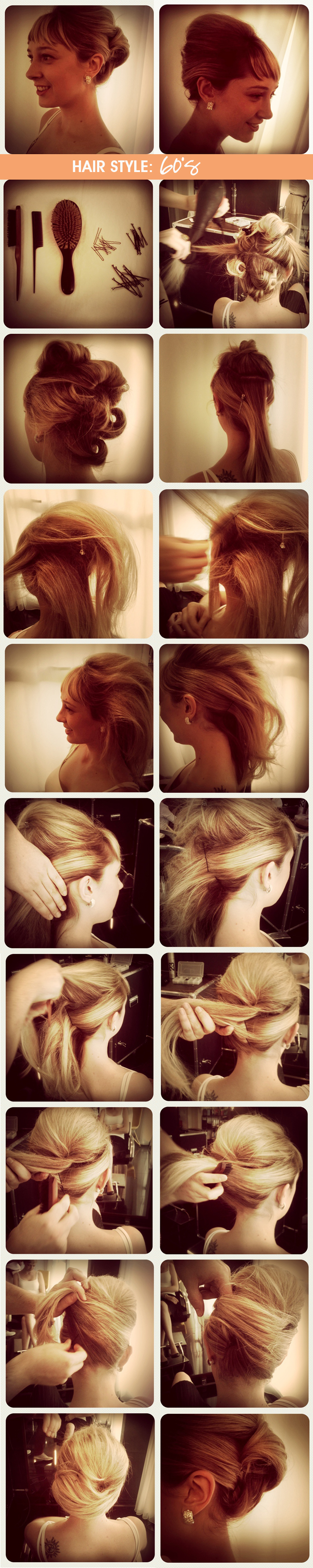 how to hair style coque anos 60 Dica de Beauté blog MeninaIT