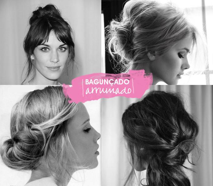 penteados de cabelos bagunçados e arrumados para o dia a dia Beauté MeninaIT