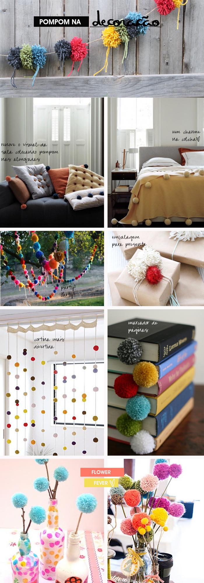 pompom na decoração Blog MeninaIT dicas de como decorar com pompom