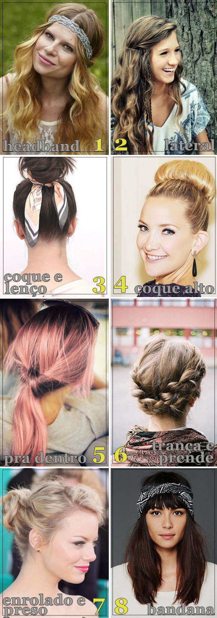 Penteados fáceis para fazer em casa