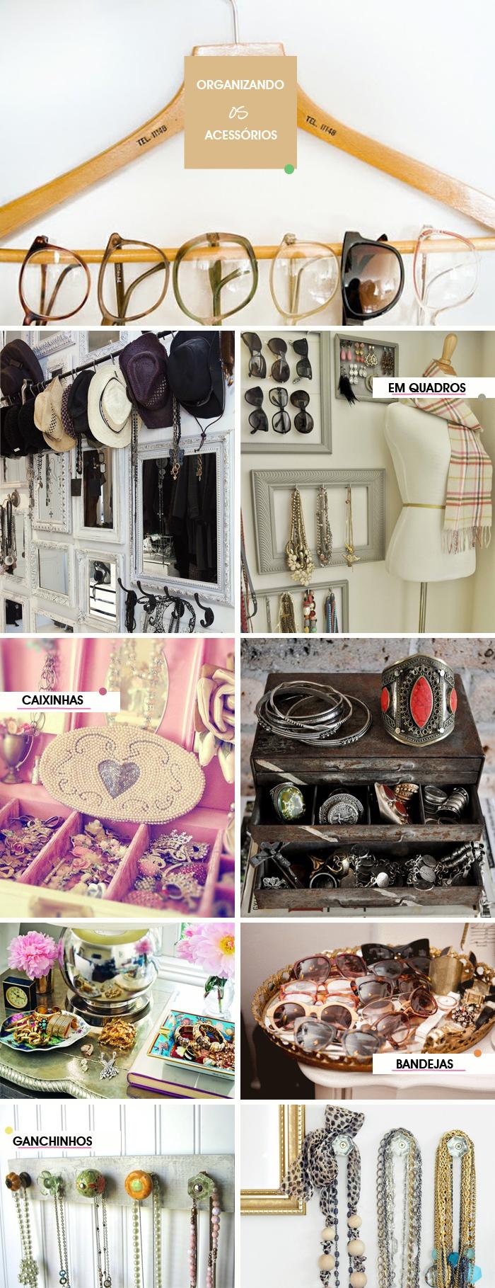 Como organizar acessórios em em ganchos caixas quadros cabides e bandejas Decor Blog MeninaIT