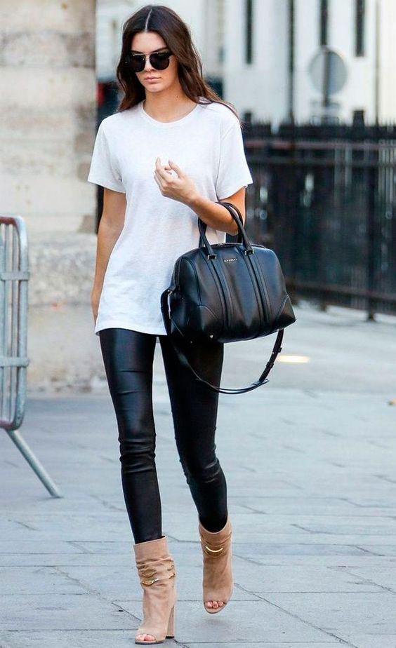 calça de couro no verão