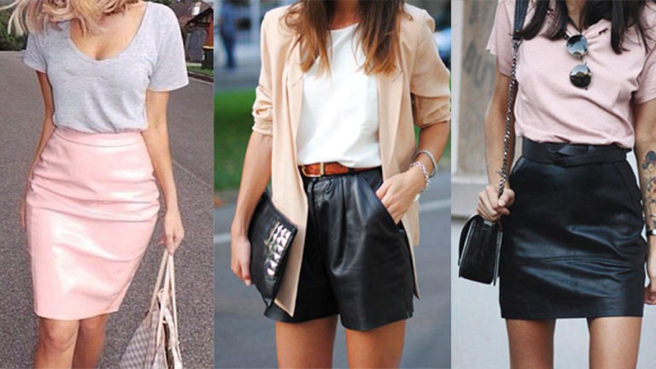 ef033cc64a8f Como usar roupas de couro no verão | We Fashion Trends