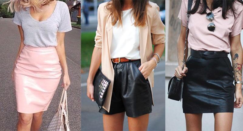 0c3c81af4 Como usar roupas de couro no verão | We Fashion Trends