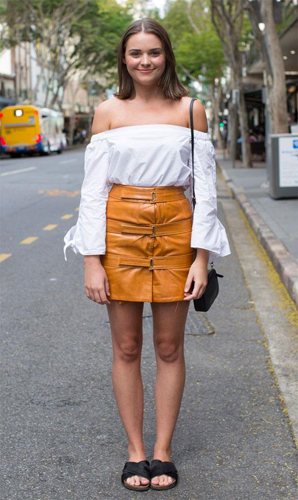 saia de couro no verão
