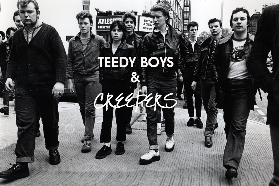 Teddy Boys on Kings Road, Chelsea.