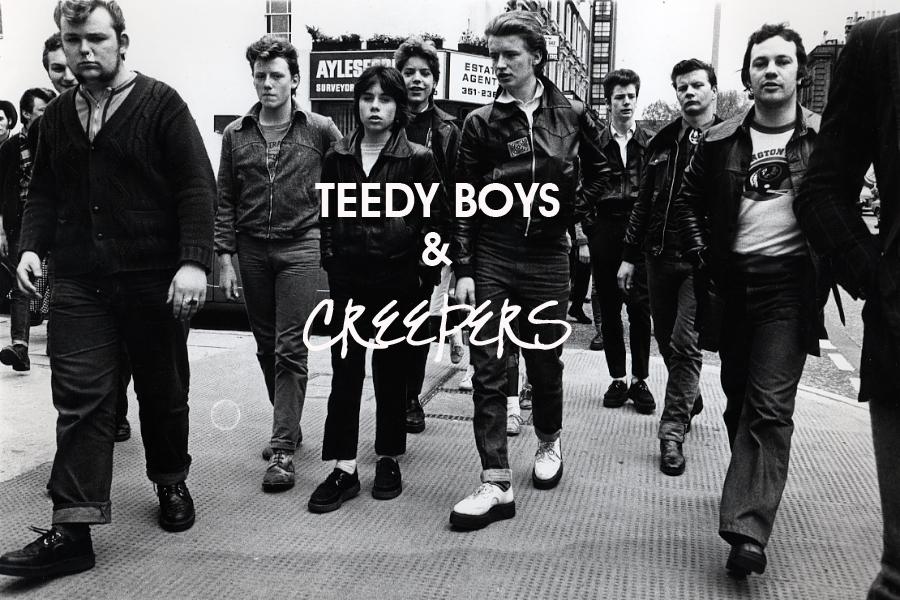 Teddy Boys on Kings Road, Chelsea.