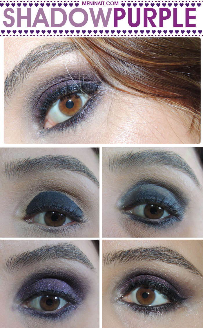 How To shadow purple makeup Beauty blog MeninaIT