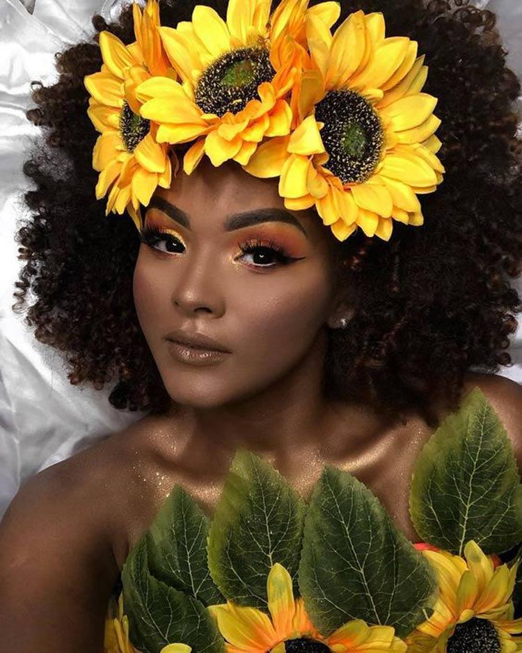 Maquiagem-para-Carnaval-para-Negras-girassol