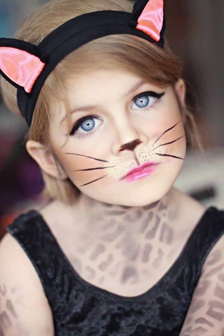 maquiagem-carnaval-crianças-gatinha