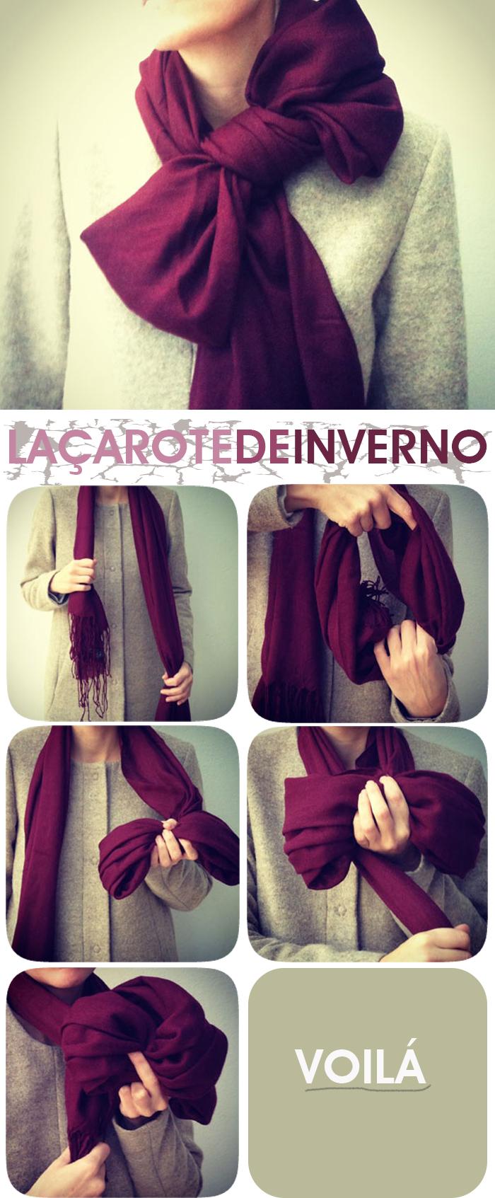 Amarrações de lenços para o inverno Fashion Blog MeninaIT