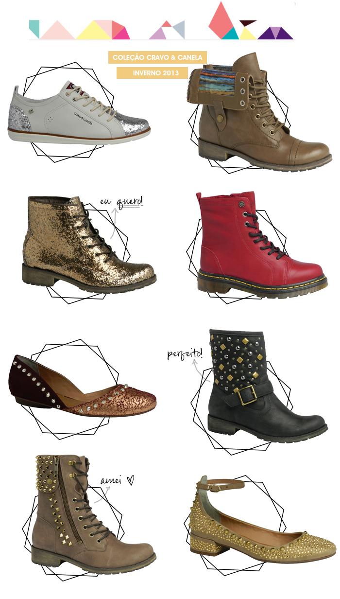 Coleção de sapatos de botas Cravo e Canela inverno 2013 Fashion blog MeninaIT