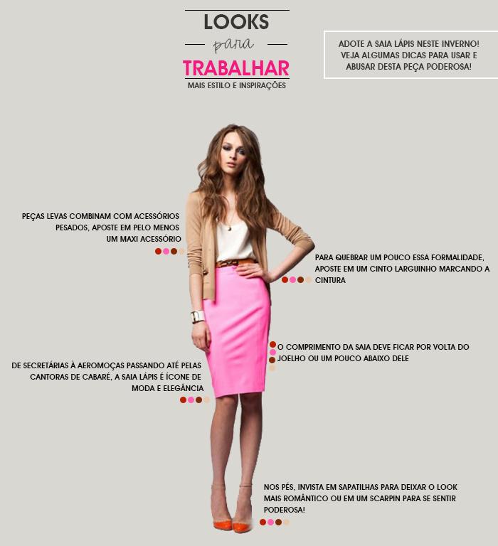 looks para trabalhar dicas para usar saia lápis em ambientes de trabalho Fashion Blog MeninaIT