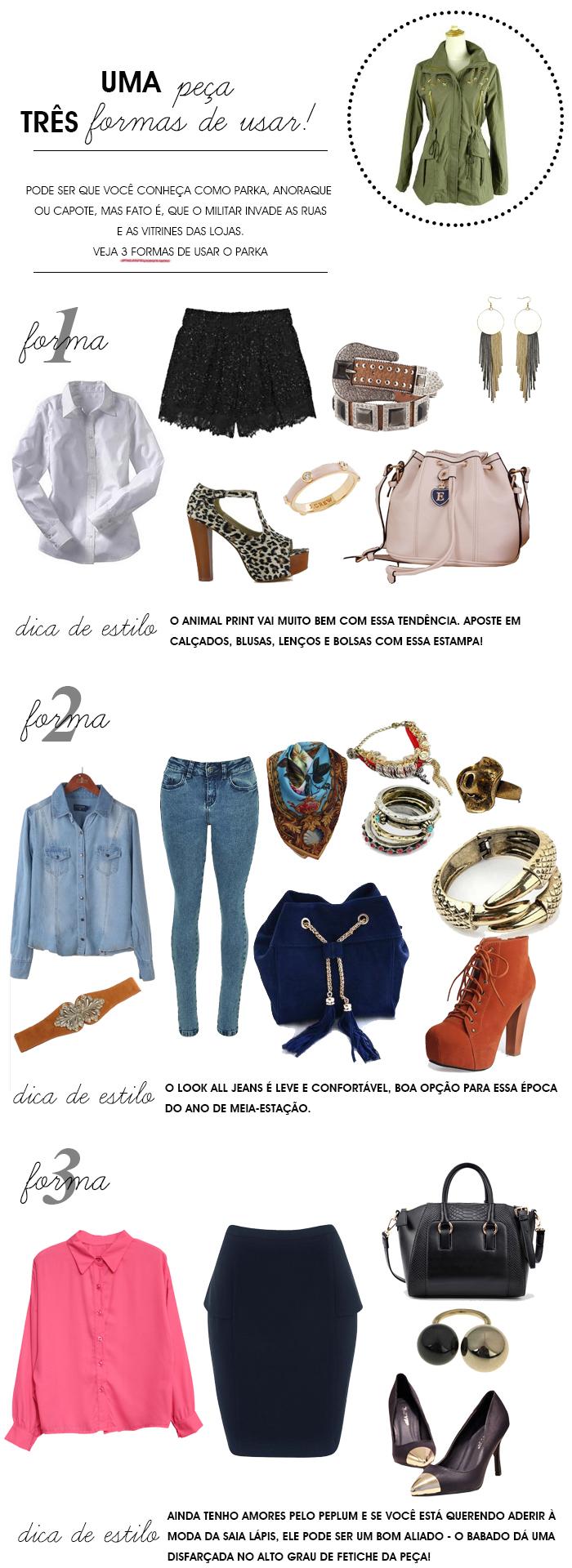 uma peça 3 formas de usar parka, capote ou anaroque Fashion Blog MeninaIT