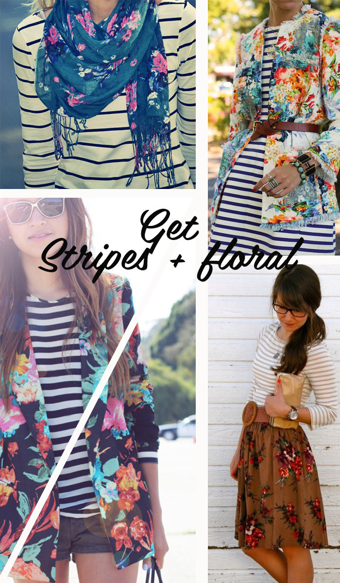 Get stripes and flowers Fashion blog MeninaIT