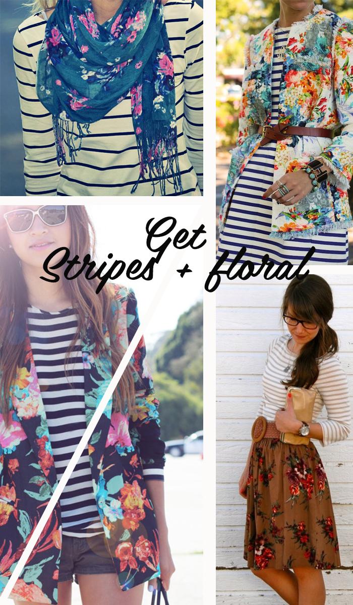 Get stripes and flowers Fashion blog MeninaIT