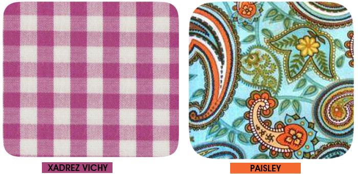 Xadrez Vichy e estampa paisley Blog de Moda MeninaIT